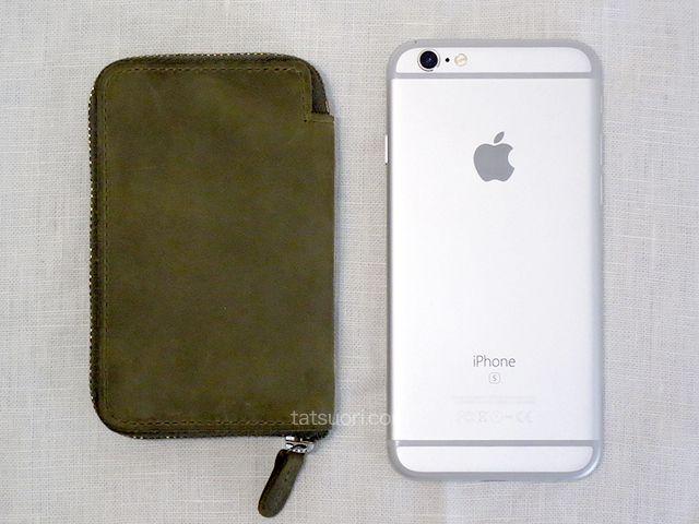 iPhone6Sと大きさの比較