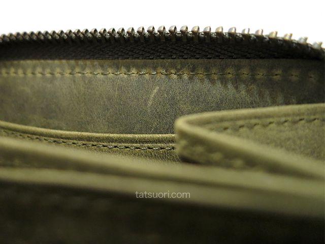 内側面中央部の縫製